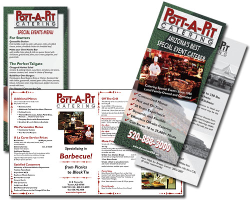 Port-A-Pit Catering Brochure and Menu