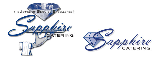 Sapphire Catering web and print logo